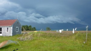View of stormy sky at Kent Island