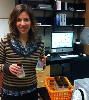 Julia Kilgour in the lab